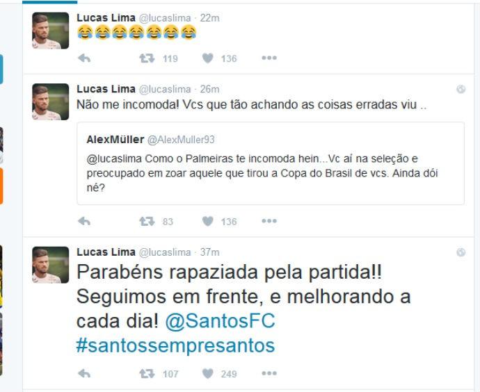 Lucas Lima no Twitter (Foto: reprodução / Twitter)