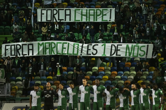 homenagem, Sporting x Arouca (Foto: EFE/Mario Cruz)