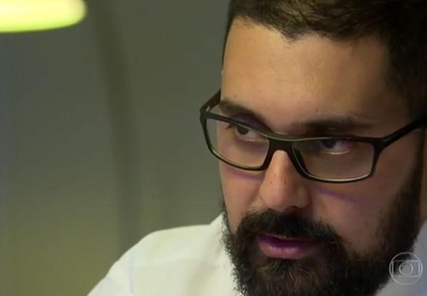 O fiscal Daniel Gouvêia Teixeira, auditor fiscal do Ministério da Agricultura em entrevista ao Fantástico (Foto: Reprodução/TV Globo)