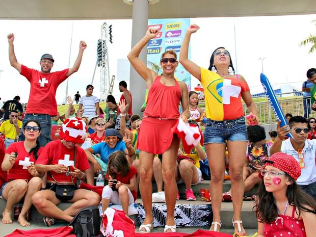Grupo ficou animado com campanha suíça (Foto: Romulo de Sousa/G1 AM)