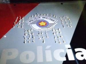 Droga apreendida pelos policiais (Foto: Divulgação/Força Tática PM)