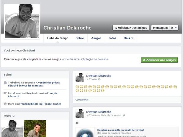 Perfil falso com foto de Rodrigo Veronese (Foto: Facebook / Reprodução)