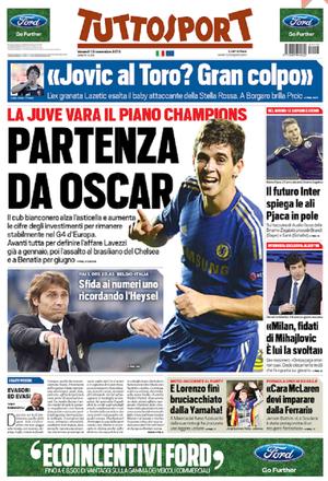 Oscar Juventus capa jornal (Foto: Reprodução)