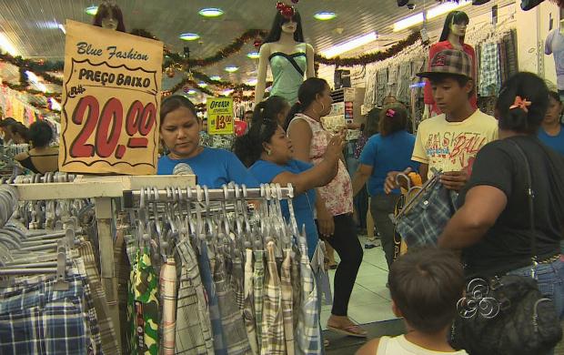 Comércio faz promoções e amplia horários (Foto: Jornal do Amazonas)