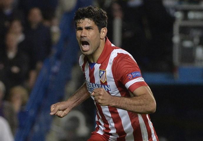 Diego Costa comemora, Chelsea x Atlético de Madrid (Foto: Reuters)