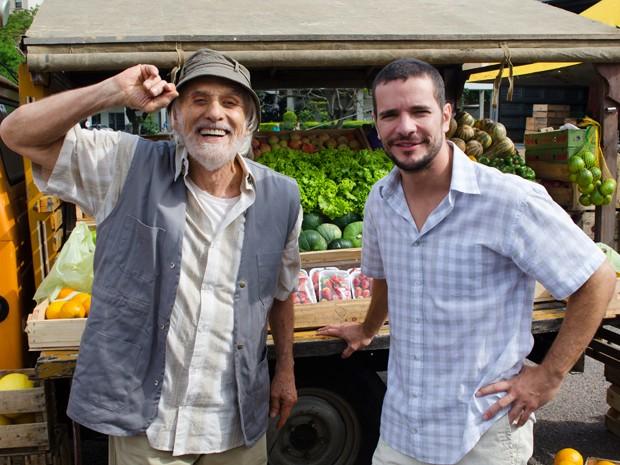 O ator rodou cenas ao lado de Daniel de Oliveira (Foto: TV Globo/Fábio Rebelo)