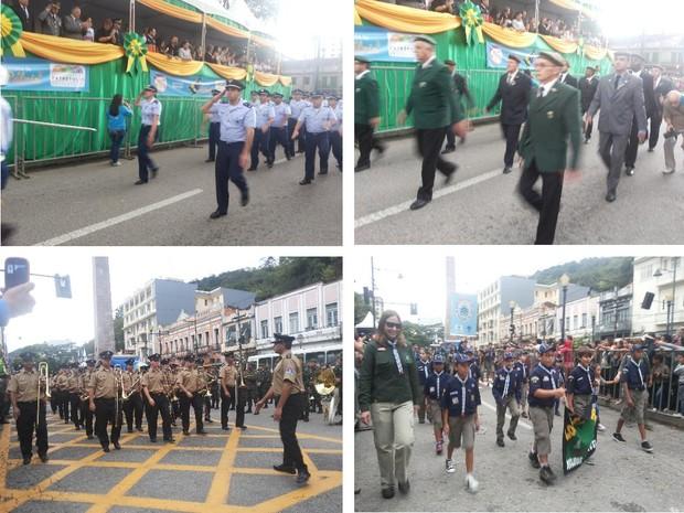 Desfile da Independência no Centro de Petrópolis 3 (Foto: Andressa Canejo/G1)
