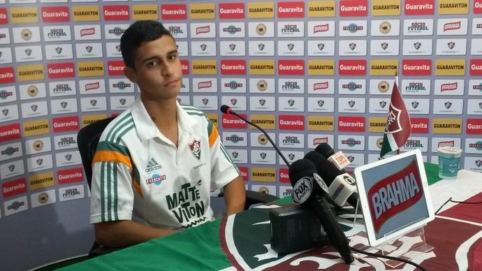 Danielzinho, do Fluminense, em entrevista (Foto: João da Mata)