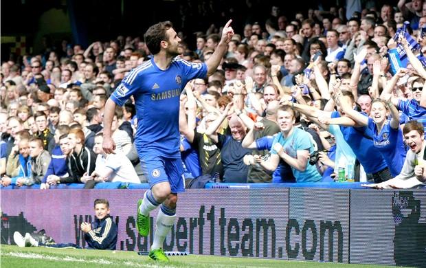 Juan Mata gol Chelsea contra Everton (Foto: EFE)