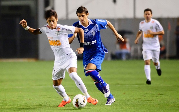Neymar Santos x Velez (Foto: Marcos Ribolli / Globoesporte.com)