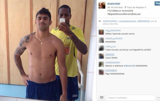 Dedé; Luan; Cruzeiro (Foto: Reprodução / Facebook)