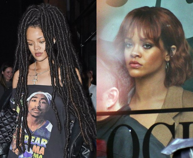 Rihanna: antes e depois (Foto: AKM-GSI/ Agência | Grosby Group/ Agência)