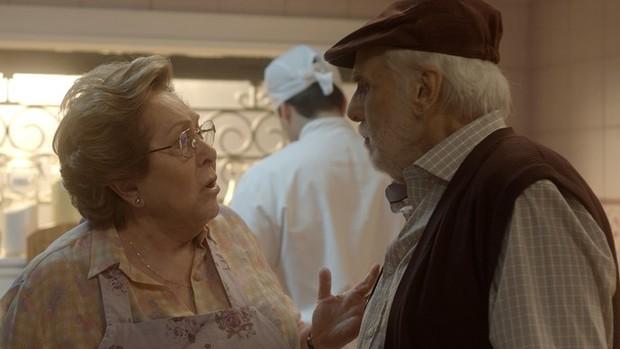 Sol Nascente: Geppina recebe visita inesperada (Divulgação)