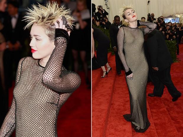 Miley Cyrus no baile do MET (Foto: Reuters / Agência || AFP / Agência)