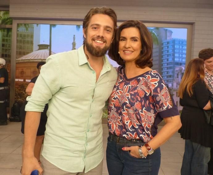 Fátima com Rafael Cardoso (Foto: Marcele Bessa / Gshow)