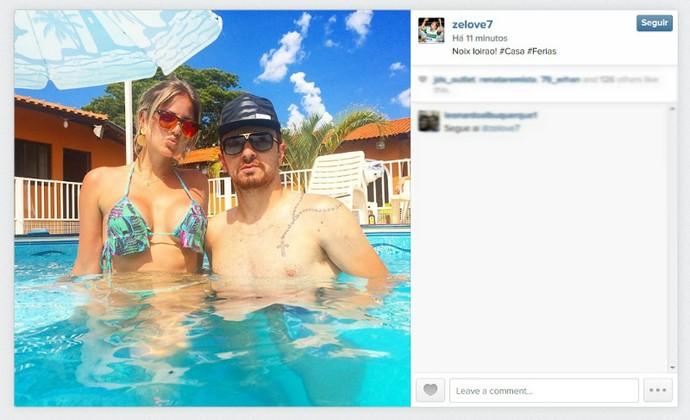 Zé Love Zé Eduardo Atacante do Coritiba (Foto: Reprodução/Instagram)