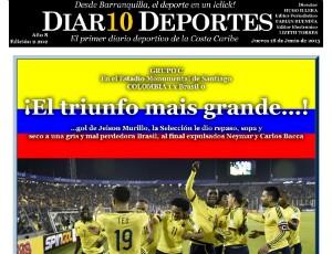 Site Diario Deportes Colômbia (Foto: Reprodução)