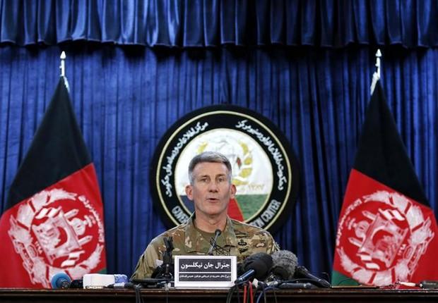 General John W. Nicholson, comandante das tropas nos EUA no Afeganistão (Foto: EFE/HEDAYTULLAH AMID)