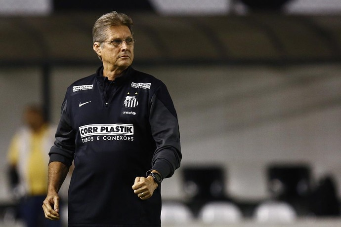 Oswaldo de Oliveira, técnico do Santos (Foto: Ricardo Saibun / Divulgação Santos FC)