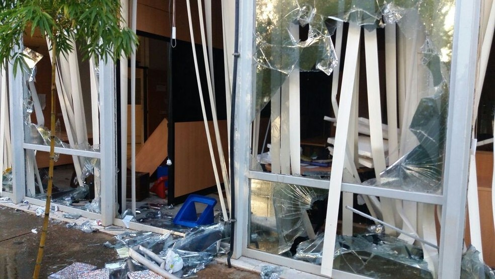 Inteiror do Ministério da Cultura após depredação (Foto: Yasmin Perna/G1)
