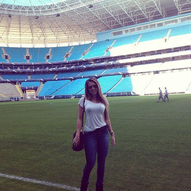 Carol Portaluppi, filha do Renato Gaúcho estádio Grêmio (Foto: Reprodução / Instagram)