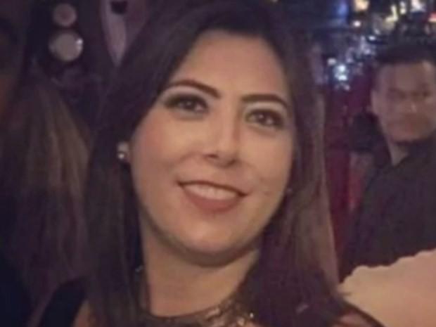 Patrícia Andrade morre ao ser baleada na cabeça enquanto dirigia, em Goiânia, Goiás (Foto: Reprodução/ TV Anhanguera)