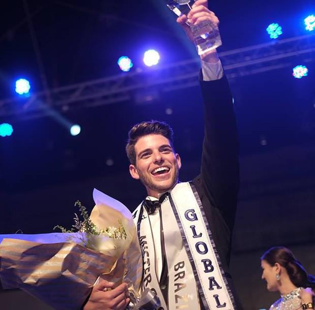 Pedro Gicca, vencedor do Mister Global 2017 (Foto: Divulgação/Destac Assessoria)