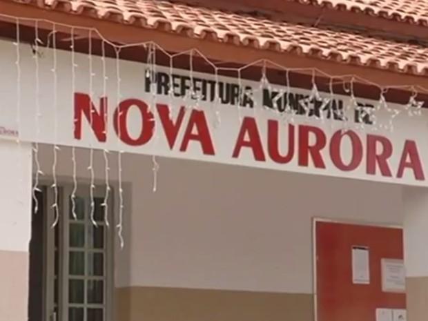 Prefeitura de Nova Aurora em Goiás (Foto: Reprodução/TV Anhanguera)