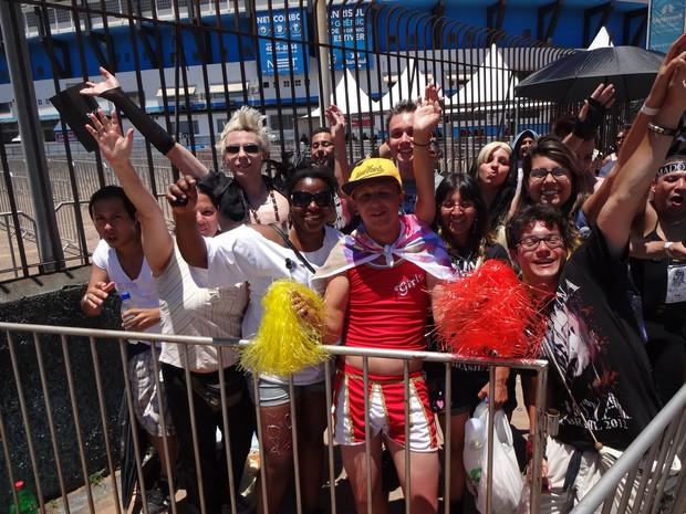 Fãs Madonna show Porto Alegre (Foto: Luiza Carneiro/G1)