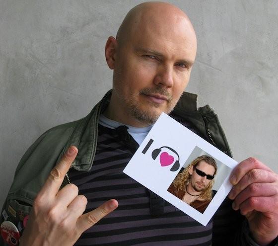 Meme: montagem de Billy Corgan com a foto de Chad Kroeger (Foto: Twitter/@remixsessions )