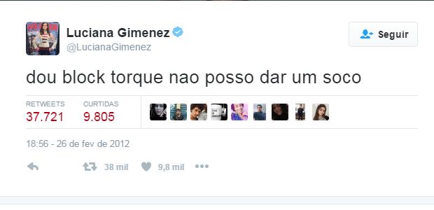 Luciana Gimenez segundo post no Twitter (Foto: Reprodução / Twitter)
