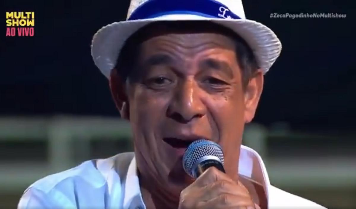 Zeca Pagodinho comemorou 59 anos com um show neste domingo (Foto: Reproduo)