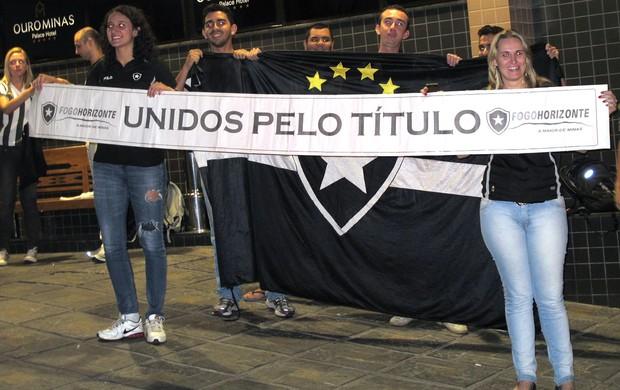 Torcedores botafogo Belo Horizonte (Foto: Thales Soares)