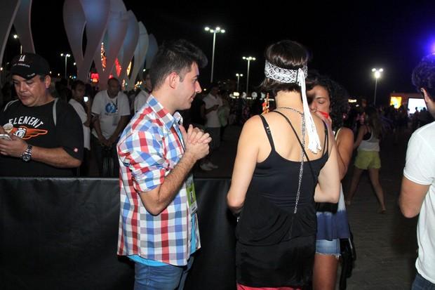 Maria Paula é barrada na entrada da área VIP (Foto: Thyago Andrade / Foto Rio News)