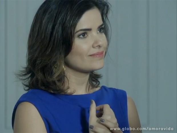 Presença de Aline na reunião com Pilar promete causar confusão (Foto: Amor à Vida/TV Globo)