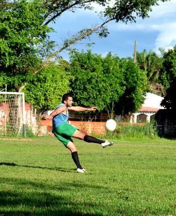 Marcelo Cabeção, atacante do Vasco-Ac (Foto: Nathacha Albuquerque)