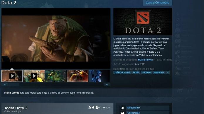 DotA 2 é uma exclusividade do Steam (Foto: Reprodução/Thomas Schulze)