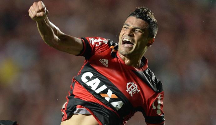 Flamengo x Internacional Éderson comemoração (Foto: Agência Estado)