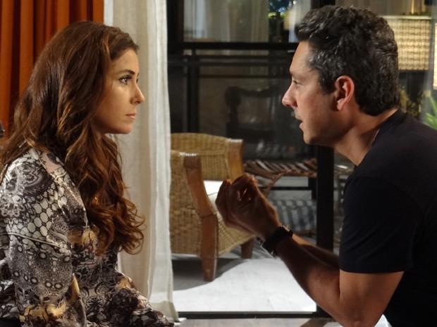 Stenio diz que vida sem Helô seria insuportável (Foto: Salve Jorge/TV Globo)