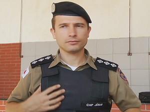 Capitão Jésus Cássio (Foto: Reprodução / Intertv dos Vales)