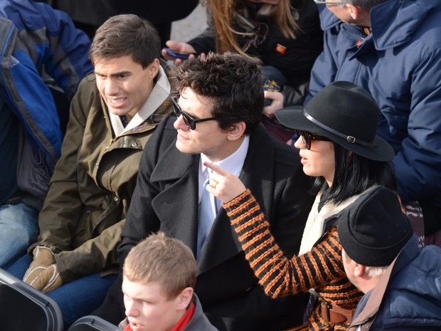 Katy Perry e John Mayer na posse de Obama (Foto: Saul Loeb / AFP / Agência)