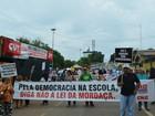 Servidores públicos protestam contra a PEC do teto de gastos em Rondônia