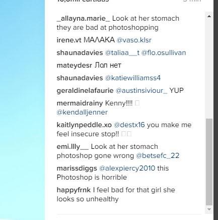 Reclamações dos seguidores sobre o tratamento da imagem (Foto: Reprodução/Instagram)