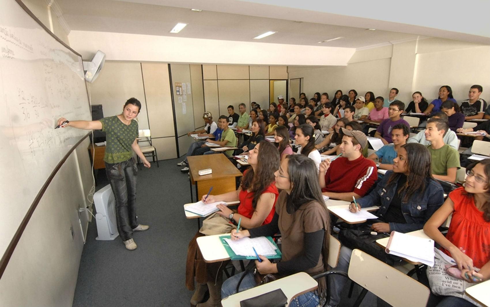 Sala de aula do Curso Preparatório de Concurso de Juiz de Fora
