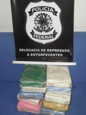 A droga estava escondida em um fundo falso do carro  (Foto: Divulgação/PF)