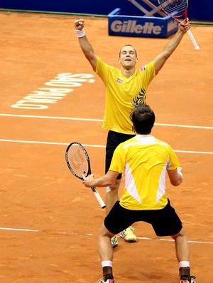 Bruno Soares tênis Alexander Peya Brasil Open final duplas (Foto: Gaspar Nobrega / Inovafoto)
