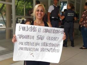 Leite Rodrigues é esposa e sogra de policiais militares (Foto: Katilaine Chagas / A Gazeta)