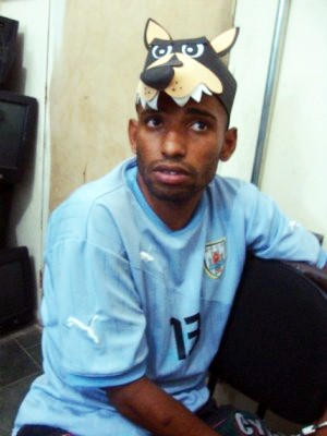 Com boné personalizado, 'Cachorrão' é preso com drogas em Itanhaém, SP (Foto: Divulgação/Polícia Civil)