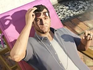 Michael curte a vida boa em 'GTA V' (Foto: Divulgação/Rockstar)