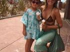 Estilosa, Rafaella Justus toma sorvete com a mãe, Ticiane Pinheiro